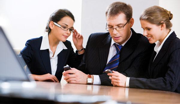 Business phone meeting - mobile phone plan savings